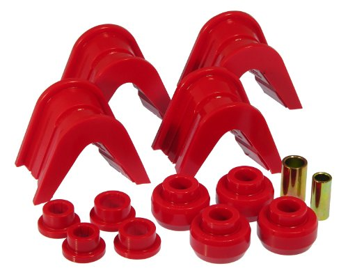 Ford Chassis Parts - Prothane 6-1902 Red 4 Degree Offset Complete Bushing Kit