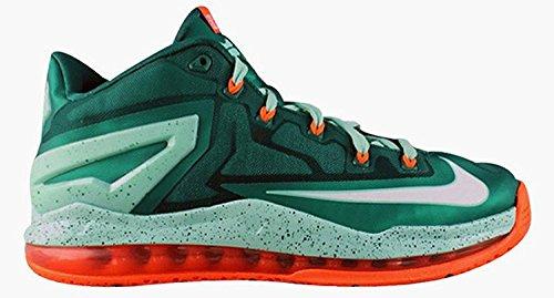 Nike Air Max Lebron XI 11 Low Men Basketball Sneakers New (10, Mystic Green White Medium Mint Hyper Cobalt) (Nike Air Max 90 Hyper Cobalt)