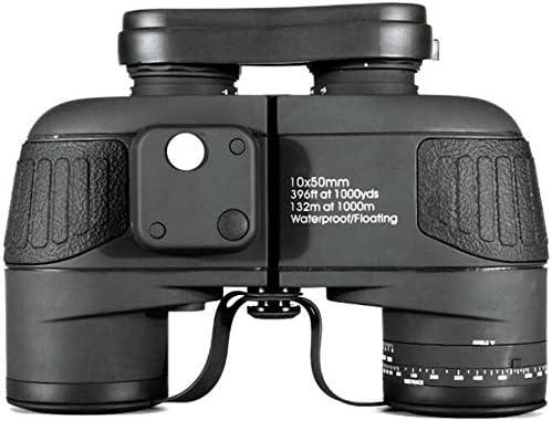 LFDHSF Binoculares 10X50 Impermeable Marino a Prueba de Niebla con visión Compás de telémetro Interno Brújula para navegación, navegación, Pesca