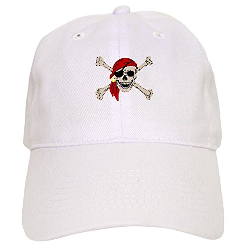 CafePress - Pirate Skull - Baseball Cap Adjustable Closure, Unique Printed Baseball Hat ()