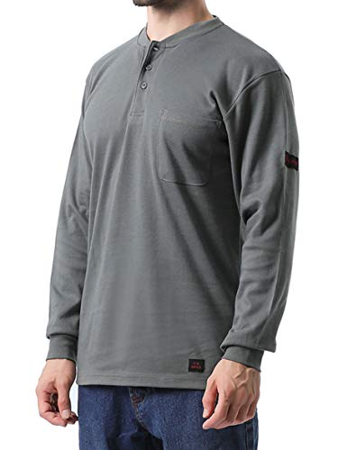 Titicaca FR Pocket Cotton Flame Resistant Henley Style Long Sleeve T-shirt