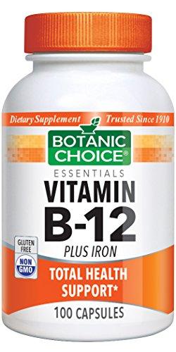 Botanic Choice Vitamin B-12 plus Iron, 100 Capsules