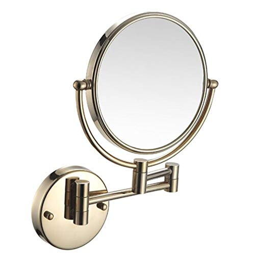 CUUYQ Makeup Vanity Mirror, Two-Sided Wall Mounted Multiple Magnification Bathroom Mirror 360° - Pull Out Bathroom Shelves Mirrors