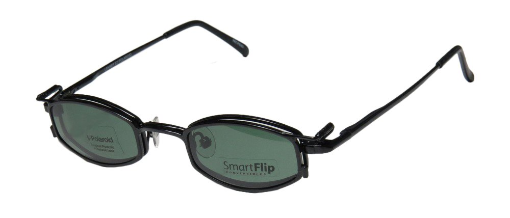 SmartFlip 451 Mens/Womens Designer Full-rim Sunglass Lens Clip-Ons Spring Hinges Eyeglasses/Glasses (42-21-130, Matte Black) by SMART STOCK