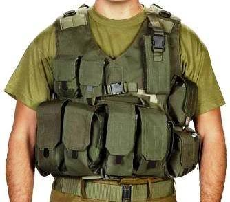 Body Glove Army Assault Gear Vest Cover Protective Jacket Armour Belt Intercepto (Idf) by HAGOR