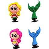 Cute Mermaid 2 Colors 3D Shoe Charms For croc shoes & Bands Bracelet and Gifts