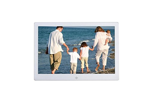 Becoler Ultra-thin Narrow 12-inch Metal Digital Photo Frame High-definition LED Electronic Album Advertising Machine Silver