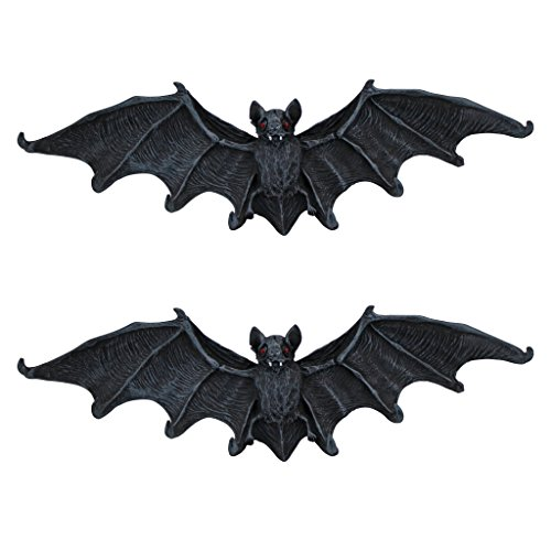 Design Toscano Vampire Bat Key Holder Wall Sculpture: Set of Two