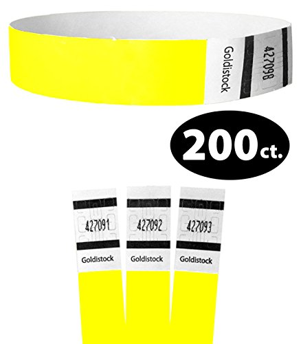 Tyvek Neon Yellow Wristbands (Goldistock Original Series - 3/4