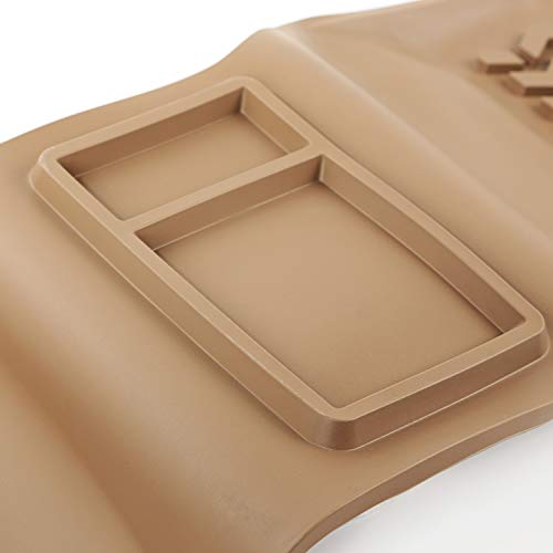 (Rugged Ridge 13987.24 Tan All-Terrain Front and Rear Floor Liner Kit - 4 Pieces)