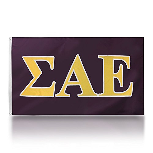 Fraternity Flag - We The Greek Sigma Alpha Epsilon 3' X 5' Officially Licensed Fraternity Flag