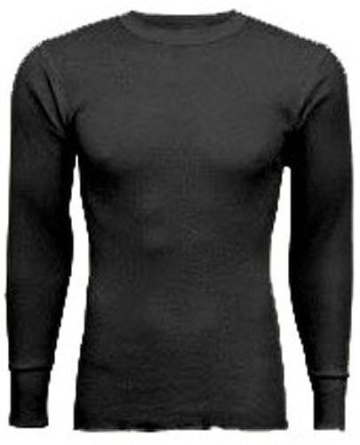 Indera - Mens Long Sleeve Thermal Top, 800LS,Black,Large