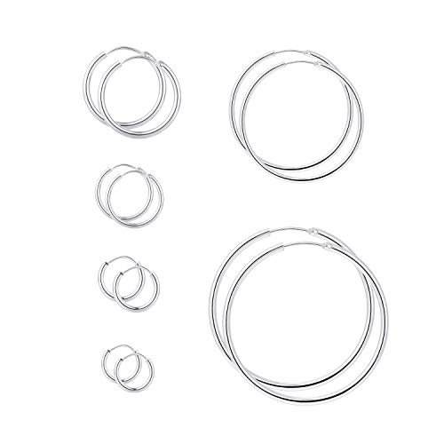 - Yanxyad 6 Pairs a Set 316L Stainless Steel Hoop Earrings for Women or Girls