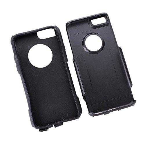 Phone case & Hülle Für IPhone 6 / 6s, PC + TPU Kombi-Schutzhülle ( Size : Black )