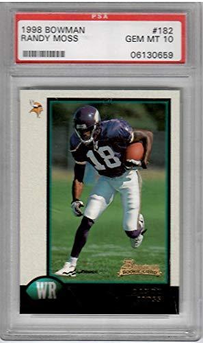 1998 Bowman Football Randy Moss Rookie Card # 182 PSA 10 Gem Mint Condition