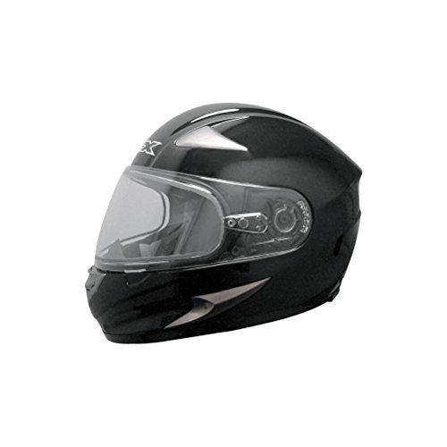 AFX FX-90S Snow Helmet w/ Electic Dual Lens Shield , Color: Black, Size: Lg 0121-0423 by AFX