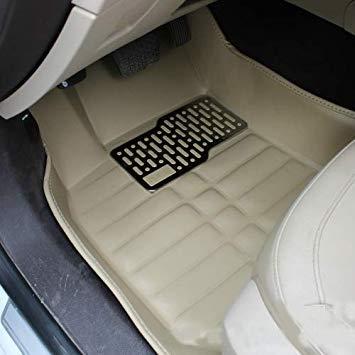Uniqus 3 PCS Car Anti-Slippery XPE Soft Floor Predector Carpet, The Buyer Must Provide The Model(Khaki)