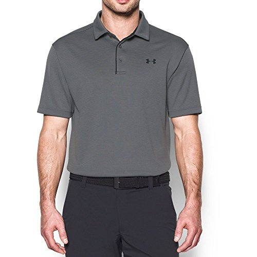 Under Armour Men's Tech Polo, Graphite (040)/Black, (Under Armour Cotton Polo Shirt)