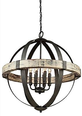 Artcraft Lighting Castello 6-Light Orb Chandelier, Black
