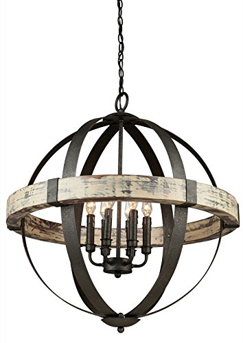 Artcraft Lighting Castello 6-Light Orb Chandelier, Black