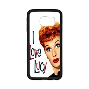 Funny Girl With I Love Lucy Pattern Phone Case for SamSung Galaxy S6 edge (Laser Technology)