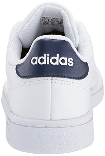 adidas Men's Advantage Running Shoe, White/White/Dark Blue, 11 M US