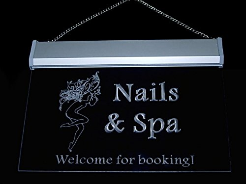 Nails & Spa Welcome for Booking Led Light Sign