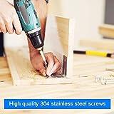 Screws 304 Stainless Steel Wood Screws 205PCS