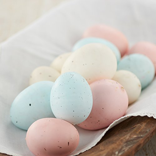 Easter Spring Eggs (Factory Direct Craft Package of 24 Pastel Speckled Easter Faux Eggs)