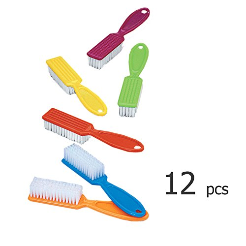 Pro Nail Scrub Brushes for Manicure Assorted Colors