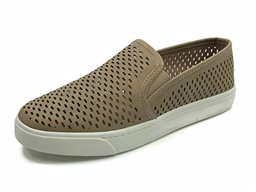 Soda Womens Slip On Sneakers - Closed Toe Camel Dash