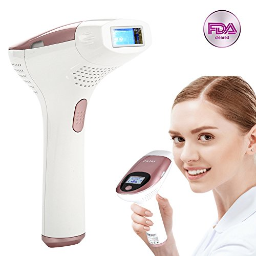 FDA Attestation IPL Permanent Epilator, Cleared Hair Removal System with LED Display for Face Body Armpit Bikini Painless Hair Removal(T3 with 3Head)