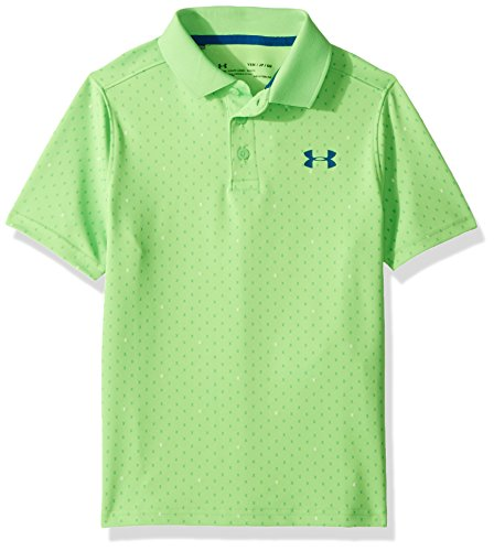 Under Armour Boys' Performance Novelty Polo, Poison (327)/Moroccan Blue, Youth Medium