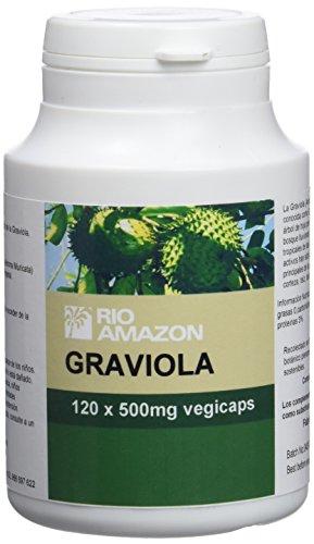 Rio Amazon 500 mg Graviola Fruit Extract - Pack of 120 Capsules