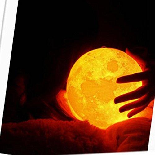 LED Light ,Lavany® 3D USB LED Magical Moon Night Light Moonlight Table Desk Moon Lamp Gift (C) (Halloween 3 3d Trailer)
