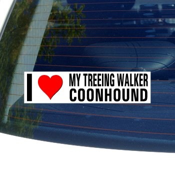 Graphics and More I Love Heart My Treeing Walker Coonhound - Dog Breed - Window Bumper Sticker