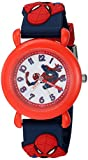 Marvel Boy's 'Spider-Man' Quartz Plastic Casual Watch, Color Blue (Model: WMA000161)