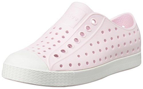 native Girls' Jefferson Child Sneaker, Milk Pink/Shell White, 6 M US Toddler