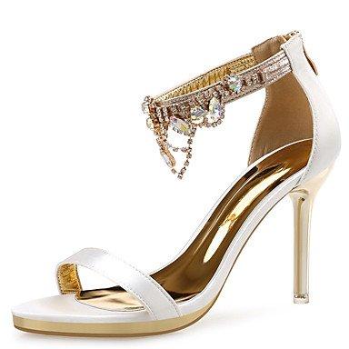 Sandalias Blanco Negro Stiletto Espumoso Verano Glitter Para Talón Womens Rhinestone FSCHOOLY Boda Primavera amp;Amp; Rojo Confort Zapatos Blanco Noche 8nawAC0qxZ