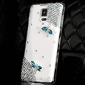 LUXURY Diamonds Crystal Dragonfly Back Cover Case for SAMSUNG Galaxy NOTE 4