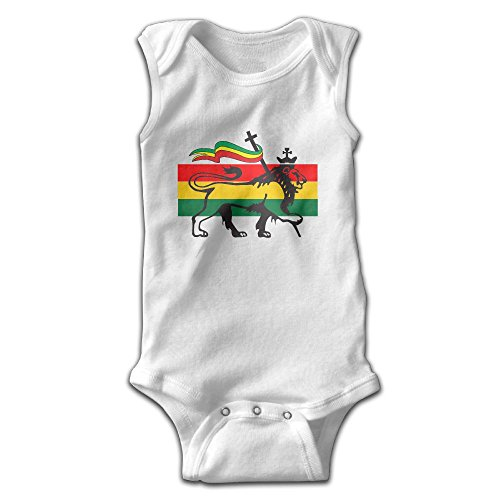 [Sleeveless King Rasta Lion Baby Girls Boys Cute Onesies Bodysuit Romper Outfits Newborn] (80s Outfits Guys)