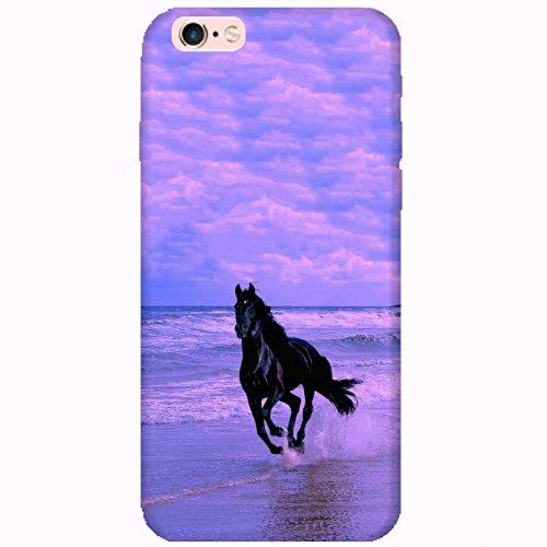 Coque Apple Iphone 6-6s - Cheval noir mer