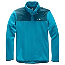 The North Face Women's TKA Glacier Snap-Neck Pullover, Barrier Reef Blue/Blue Coral, L