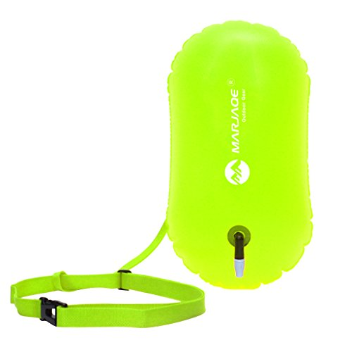 Baosity 2Pcs Waterproof PVC Swim Buoy Tow Float Air Bag Inflatable Swimming Bag with Waist Belt - Lightweight & Highly Visible by Baosity (Image #4)