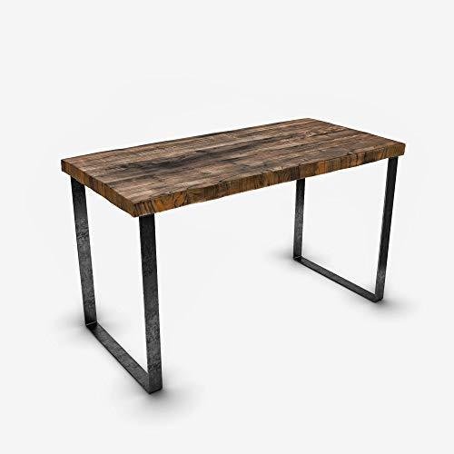 (UMBUZÖ Solid Reclaimed Wood & Metal Desk)