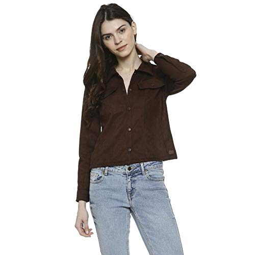 Campus Sutra Women Solid Coffee Colour Casual Jacket(AZ119JK_SHTJK_W_PLN_DCO_AZ_L) (B07ZVHG1N4) Amazon Price History, Amazon Price Tracker