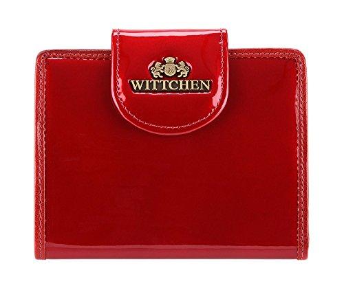 WITTCHEN Portafoglio, Dimensione: 12x9,5cm, Rosso, Materiale: Pelle verniciata, Orizzontale, Collezione: Verona - 25-1-362-3