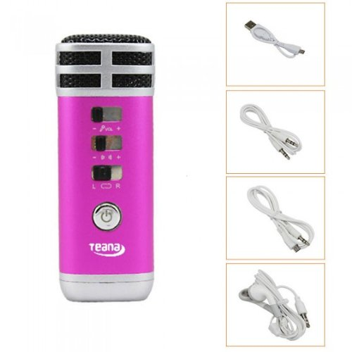 Kingzer 3.5mm Mini Pocket Microphone Karaoke Player Home KTV For PC/Phone/MP4/MP3 Rose from KINGZER