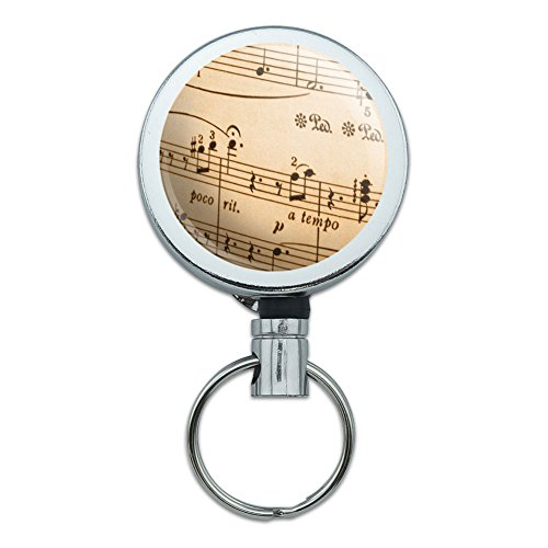 Retractable Badge Holder Musical Instruments