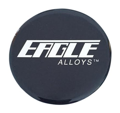 Eagle Alloys Wheels Black Sticker Decal 71MM